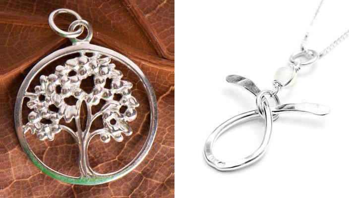 Bilde av to smykker